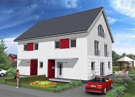 """Die """"Doppelhaus""""-Lösung ... """"myRhenoFertighaus""""-GUNDHEIM"""