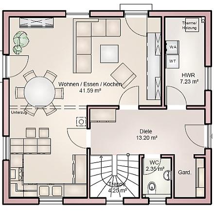 Das&nbsp;architektonisch verspielte Einfamilienhaus ... &quot;myRhenoFertighaus&quot;-HEPPENHEIM<br />