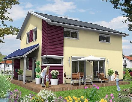 """Das2-geschossige Einfamilienhaus ... """"myRhenoFertighaus""""-HERRNSHEIM"""