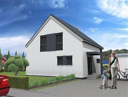 Das architektonisch betonte Einfamilienhaus ... &quot;myRhenoFertighaus&quot;-HOCHHEIM <br />