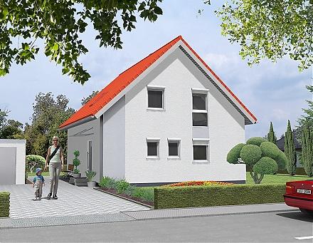"""Daskonservative Einfamilienhaus ... """"myRhenoFertighaus""""-LEISELHEIM"""