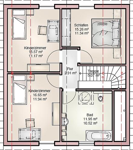 """Dasklassisch schlichte Einfamilienhaus ... """"myRhenoFertighaus""""-NEUHAUSEN"""