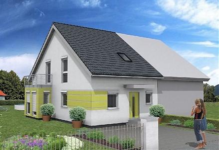 """Das clevere Doppelhaus ... """"myRhenoFertighaus""""-OSTHOFEN"""